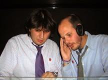 Andrés Verdeguer y Quique Median la primera vez que pincharon como Los Átomos. 10 de marzo de 2006, sala Walkabout.