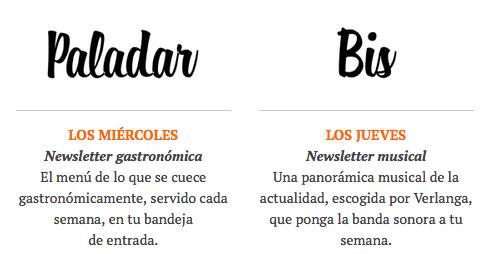 Cabeceras newsletters