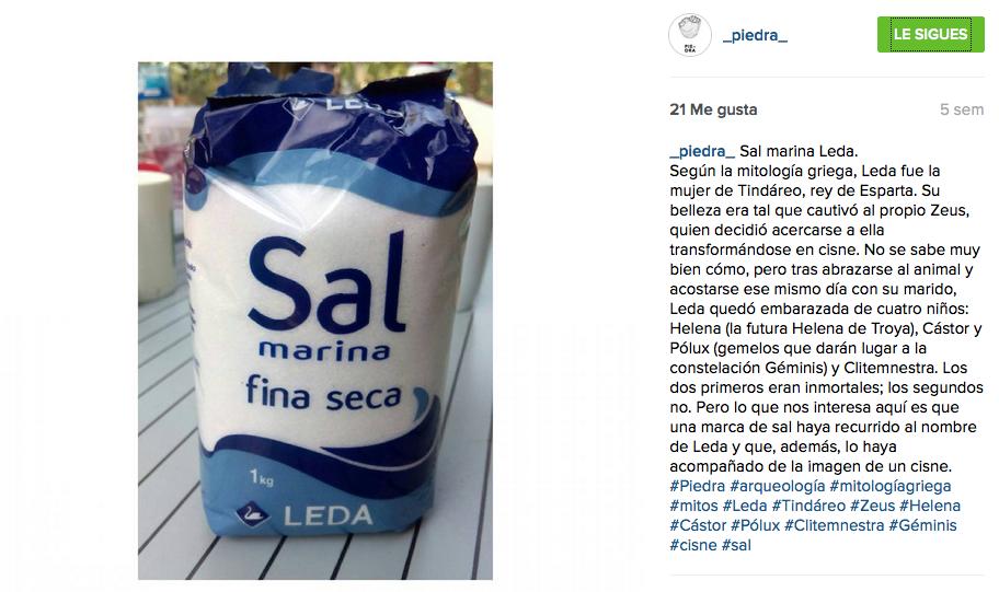 Fotografía del instagram de Piedra.