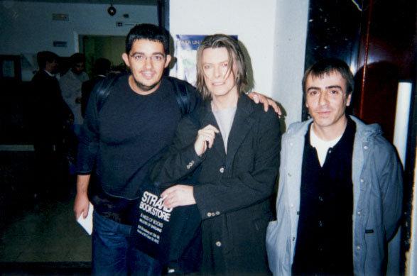 Rafa Cervera, David Bowie y Remi Carreres