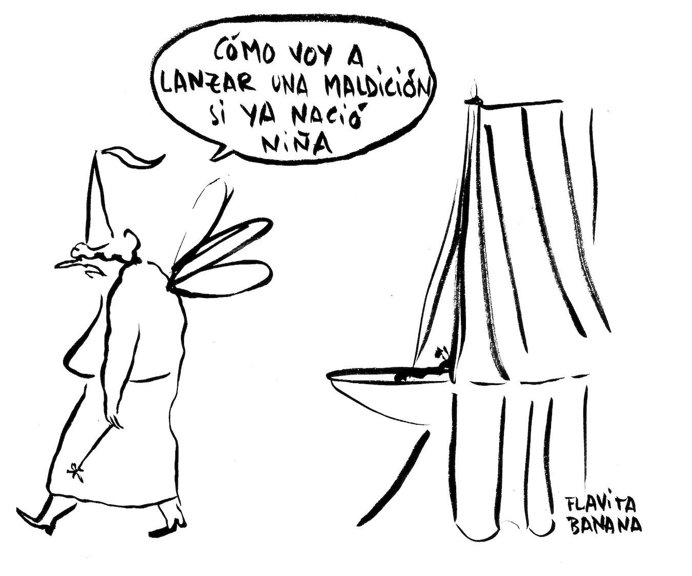 Flavita Banana, disparando viñetas
