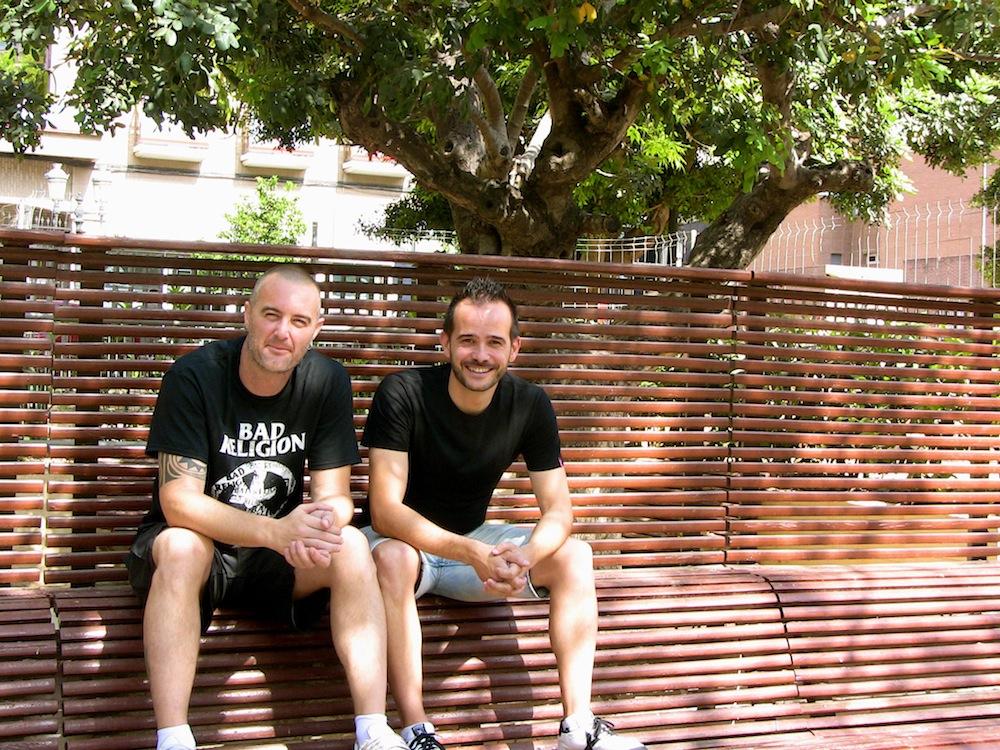 Sergi López y Edu Febrero. Foto: Eva M. Rosúa.