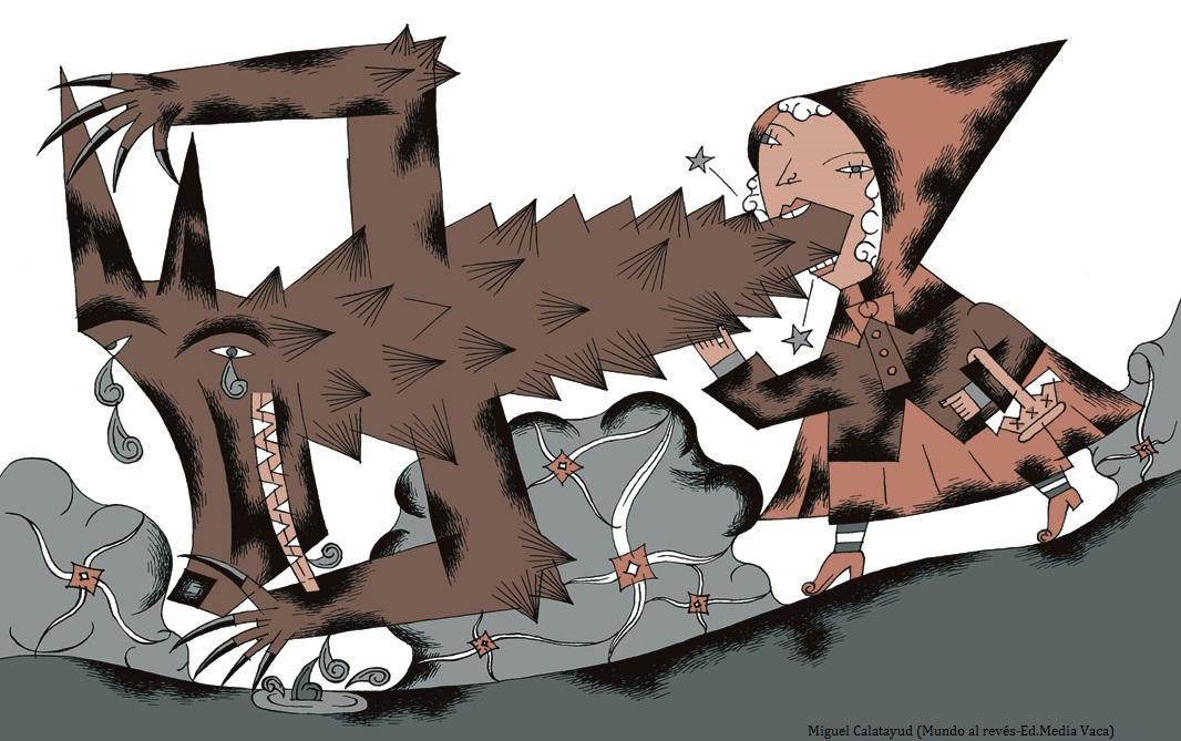"""Imagen de """"El mundo al revés"""". Miguel Calatayud. Ed. Media Vaca"""