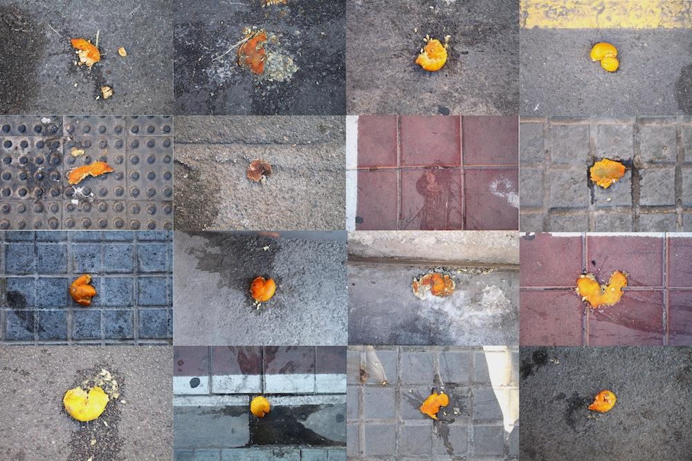 Naranjas aplastadas.