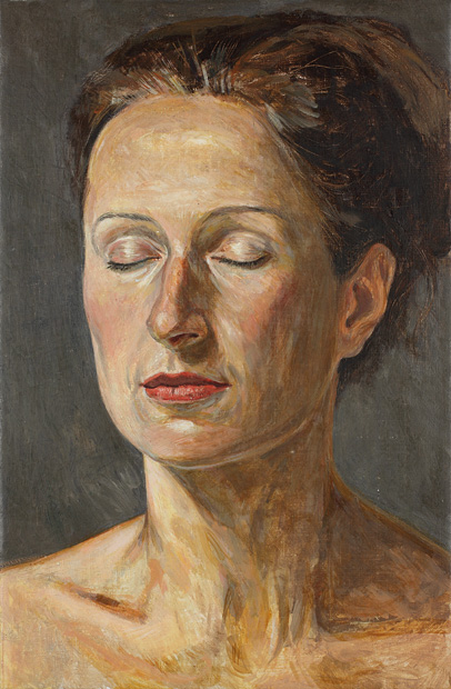 """""""Mujer descansando los ojos""""."""