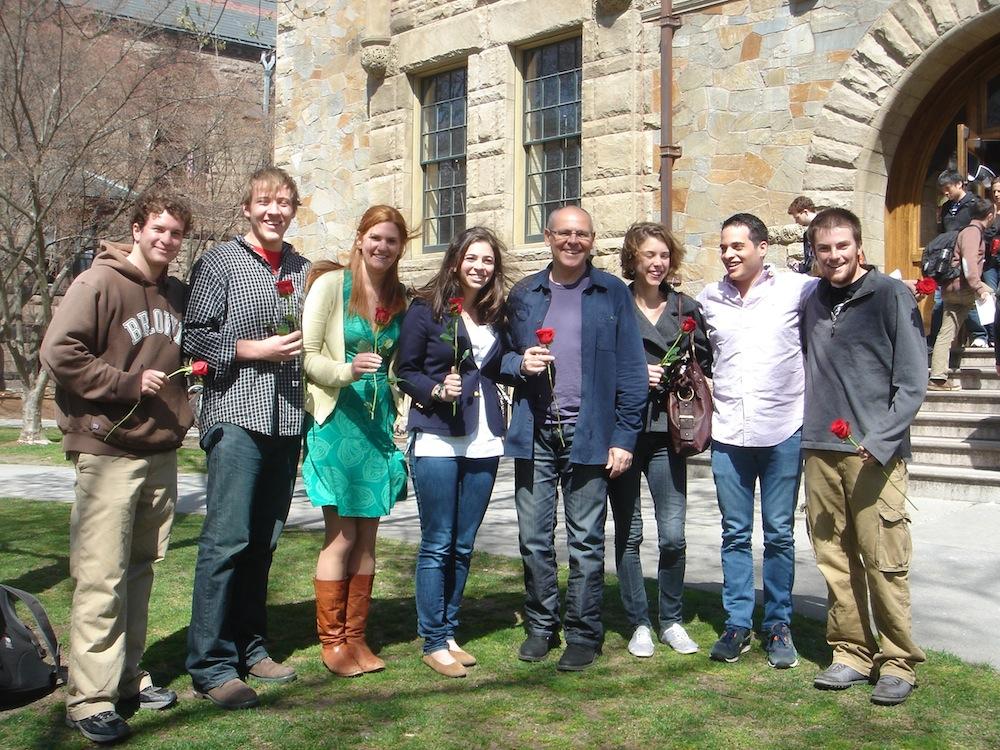 Professor Orts  celebrating Sant Jordi's Day