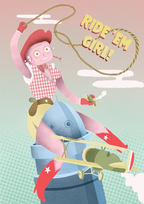 Ride em' girl!