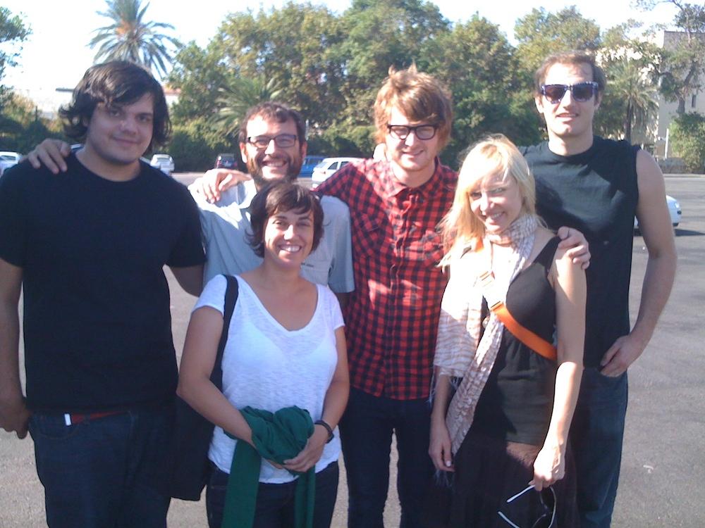 Los miembros de Tranquilo Música con los de Telekinesis y The Rosebuds.