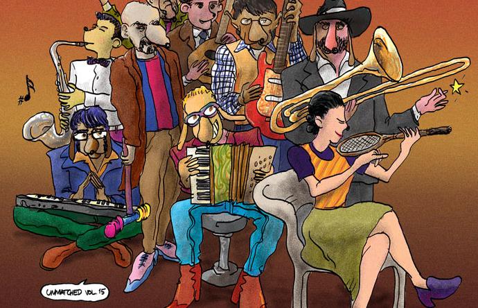 """""""De marcha con Marieta y los Jetas / Ruben Demos"""" (Caballero Reynaldo & The Grand Kazoo)"""