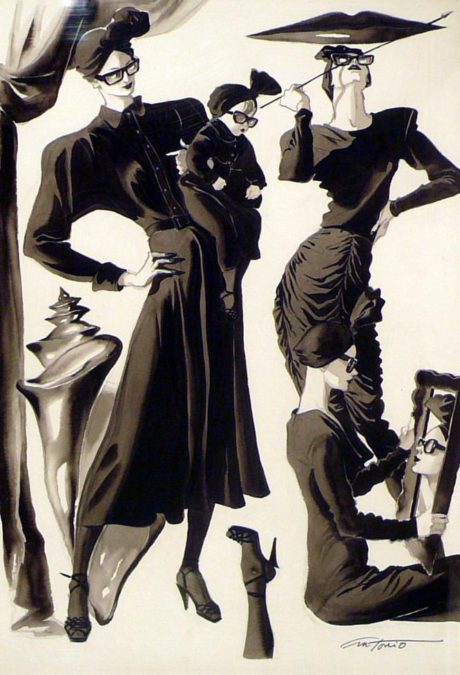 Ilustraciones para diseñadores y marcas de moda: Norma Kamali