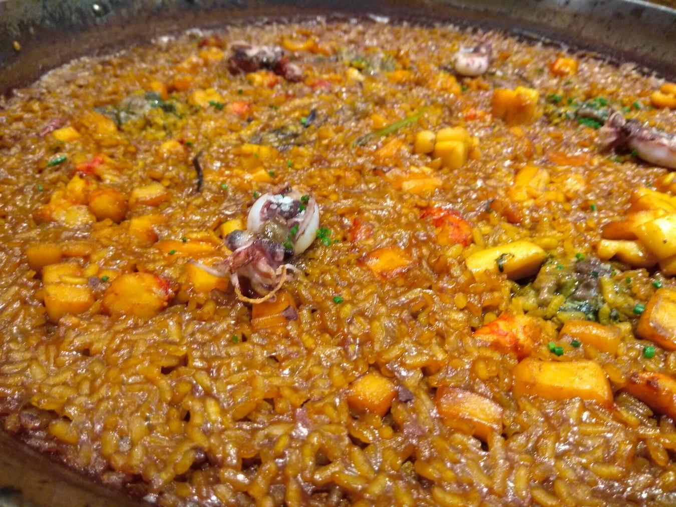 Comer un arroz en Yarza