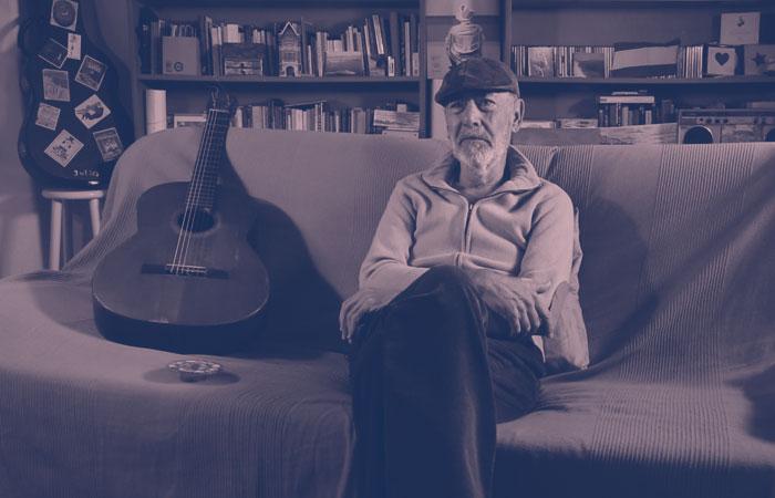 La calma del escritor de canciones