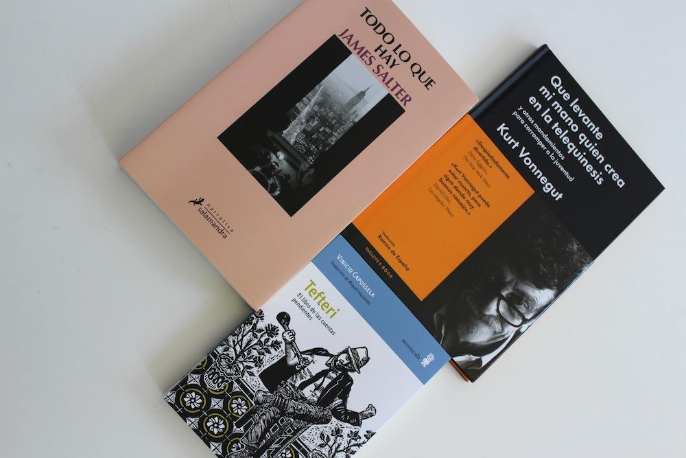Tres libros para morir más tarde