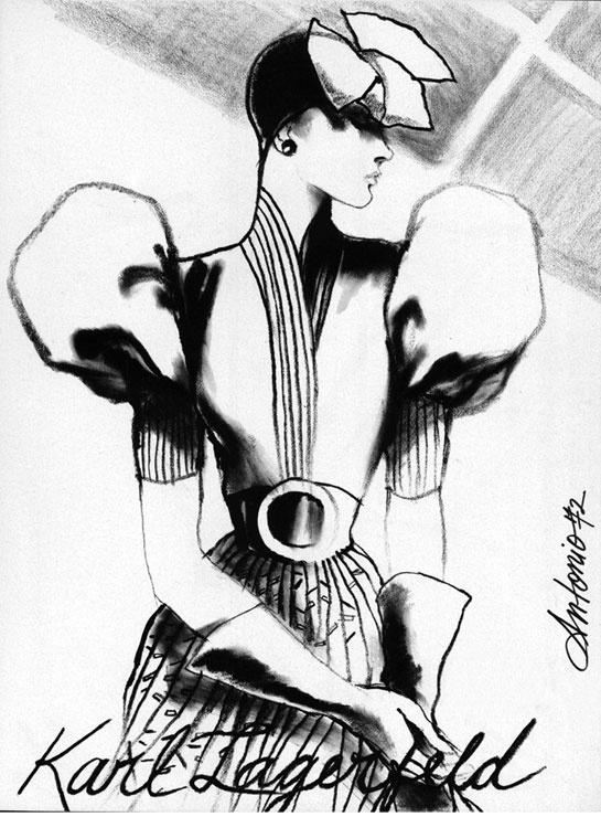 Ilustraciones para diseñadores y marcas de moda: Karl Lagerfeld