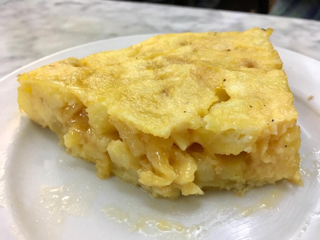 La tortilla de patatas del Montblanc